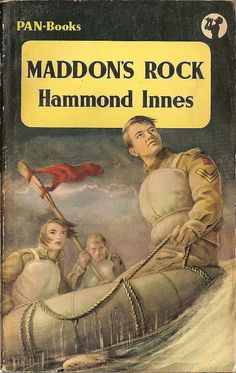 Maddon's Rock by Hammond Innes Pan Books Read in 1992 Crime Fiction, Pulp Fiction, Fiction Novels, Vintage Book Covers, Vintage Books, Great Books, My Books, War Novels, Literary Genre
