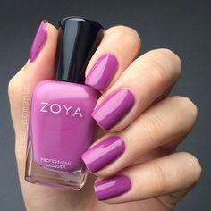 Zoya Liv, a smoky lilac creme nail polish / lacquer (Sunsets summer 2016)