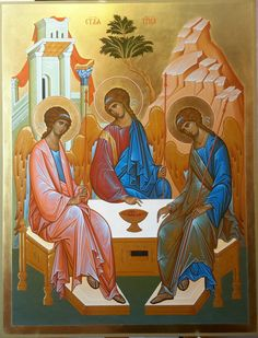 Trinity – Graffiti World Byzantine Icons, Byzantine Art, 3d Wall Painting, Graffiti Murals, Religious Icons, Orthodox Icons, Sacred Art, Christianity, Andrei Rublev