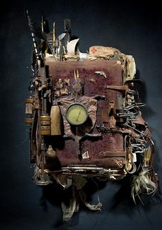 this is more of a home decor than altered book--- by Ron Pippin