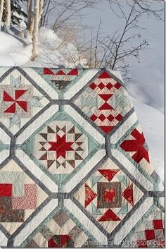 Saturday's Surprise quilt - not really into samplers or sashing