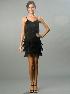 Dance The Night Away And Let The Fringe On This Dress Shake Mini-Hemline Dress