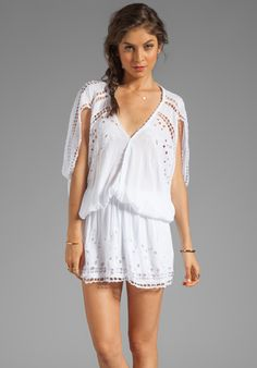 Tiare Hawaii Krawang Mini Dress in White www.revolveclothing.com $105.00