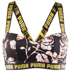 PUMA w bra top via Polyvore featuring activewear, sports bras, sports bra top, sports bra, top sports bras and bra top