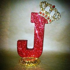 This is a listing for a 10 sparkling crown letter!  These letters and numbers can be made in any color. You can pick the color of the letter, the base, the crown, and even the jewels on the crown.  These pieces are freestanding so they can be used for party centerpieces, room decor, table numbers, J Alphabet, Alphabet Letters Design, Stylish Alphabets, Alphabet Wallpaper, Sunflower Wallpaper, Baby Shower Centerpieces, Party Centerpieces, Letters And Numbers, Table Numbers