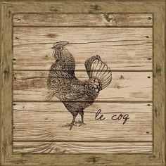I pinned this Le Coq Wall Art from the Fall Into Place event at Joss and Main!