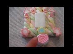 """""""CASTILLO"""" BROCHETA DE BOMBON. Marshmallow Cupcakes, Cupcake Cookies, Candy Bouquet, Party Centerpieces, Candy Shop, Candyland, Princess Party, Cake Pops, Choco Flan"""
