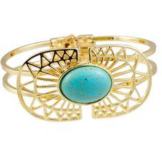 Oval Burst Turquoise Bracelet [10084600] - $12.00