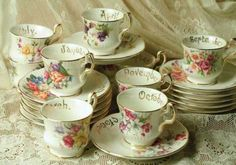 Tea cups by month