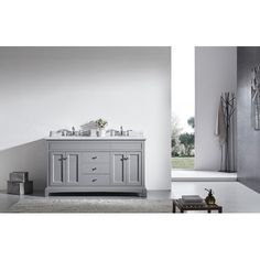 "Found it at Wayfair - Elite Stamford® 60"" Double Bathroom Vanity Set"