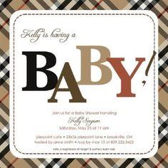 baby shower invitation Baby Shower Cakes, Baby Shower Parties, Baby Shower Themes, Baby Boy Shower, Baby Showers, Shower Ideas, Baby Burberry, Baby First Birthday, 60th Birthday