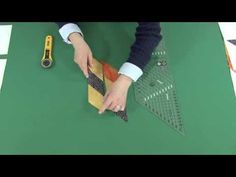 "▶ New Creative Grids Non-Slip 6"" 45° Diamond & Lone Star Bias Ruler - YouTube"