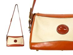 Off White Dooney & Bourke Shoulder Bag // by IntertwinedVintage