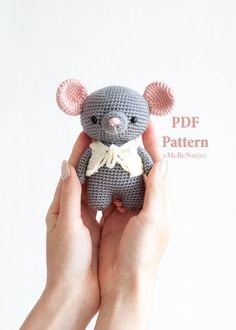 Jeremy the mouse pattern.Easter amigurumi pattern, mouse, crochet pink mouse pattern, pdf amigurumi doll, pig patern,easy pattern by EmerensLove on Etsy