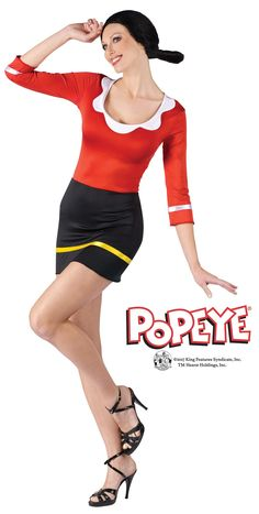 License Popeye Olive Oyl Costume