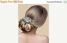 Wedding hair accessory Bridal hair comb crystal by GlamDuchess