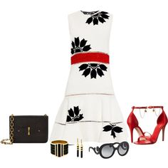 Untitled #1771 by elia72 on Polyvore featuring polyvore fashion style Alexander McQueen Vince Camuto Prada