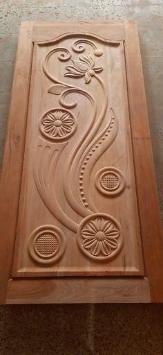 Wooden Front Door Design, Wood Bed Design, Wooden Front Doors, Home Stairs Design, Room Door Design, Modern Wooden Doors, Wood Carving Designs, Letterhead Design, 7 Piece Dining Set