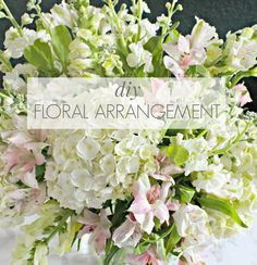 Flower Arranging Made Easy- how to make a professional arrangement with flowers from the grocery store!