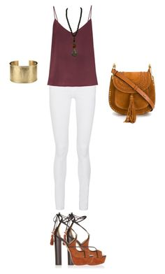 """""""Wild in the city"""" by super15 ❤ liked on Polyvore featuring Frame Denim, Raey, Aquazzura, Pellini, Blue Nile and Chloé"""