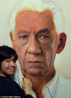 Joongwon Charles Jeong-- amazing hyper realistic portraits in acrylic paint.