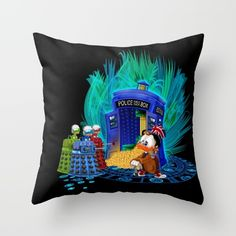 The Doctor who Tales Throw Pillow Case #Pillow #PillowCase #PillowCover #CostumPillow #Cushion #CushionCase #PersonalizedPillow #tales #coin #dalek #mickeymouse #donaldduck #cat #mouse #doctorwho #davidtennant #10th #fog #mist #tardis #whovian #mashup #timelord #timetravel