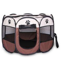 Medium Pet Carrier portable Folding Dog Cat Travel Waterproof Transporter Brown | Pet Supplies, Dog Supplies, Fences & Exercise Pens | eBay!