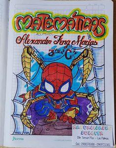 Card Drawing, Border Design, Goku, Spiderman, Pikachu, Bullet Journal, Kawaii, Lettering, School