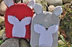 Toddler+Backpack++Foxy+in+grey+by+bratpacks+on+Etsy,+$35.00