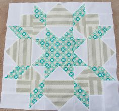 Swoon quilt block, vintage modern fabric, Bonnie and Camille, Thimble Blossoms pattern, quilts