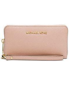 9228467a54 MICHAEL Michael Kors Jet Set Travel Large Coin Multifunction Wallet -  Handbags   Accessories - Macy s