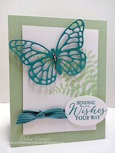 Lost Lagoon Butterfly by pdncurrier - Cards and Paper Crafts at Splitcoaststampers