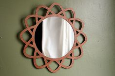 12 Geometric WALL VANITY MIRROR on Cherry Mid por portrhombus