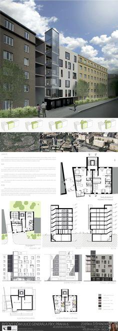 Studentský projekt. LS 2013/2014. FSv ČVUT v Praze. Floor Plans, How To Plan, Presentation Board Design, Buildings, Atelier