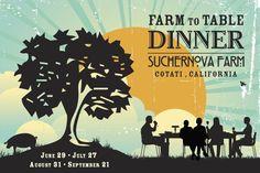 farm dinner - invitation example