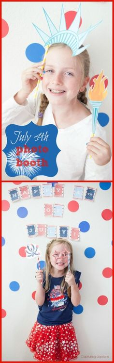 4th of July Photo Booth Free Printables - perfect for your Independence Day Party KristenDuke.com