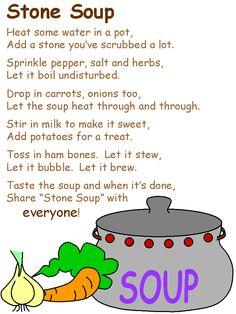Stone soup poem