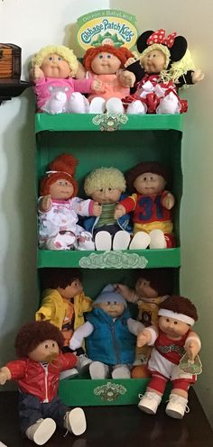My husband made this CPK inspired display case❤️💗 Retro Toys, Vintage Toys, Baby Memories, School Memories, Doll Display, Display Case, Cabbage Patch Babies, Childhood Days, Bratz Doll