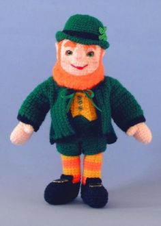 Crochet Pattern, Liam the Leprechaun Doll, Irish, St Patrick's Day, - PDF File by BluebearyTreasures for $7.50
