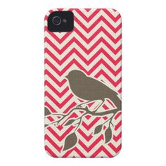 Bird & Chevron iPhone Case iPhone 4 Covers