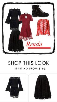"""Rendase"" by quianeacza on Polyvore featuring moda, Dolce&Gabbana, Looks e rendas"