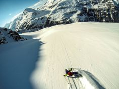 The new season is on! Finally! Daniel Feichtinger shredding powder in Gastein, Austria in this photo taken with a GoPro HERO3 in time-lapse mode.