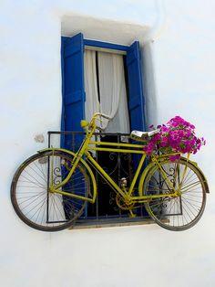 Naxos island Nice place to hang the bike! Naxos, Greece.