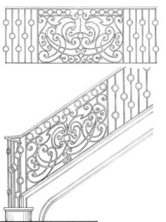 Stair Railing Designs ISR216