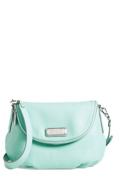 A pretty mint handbag for spring.