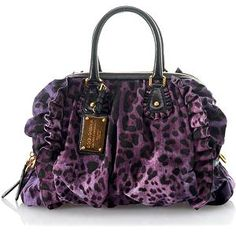 purple Leopard purse