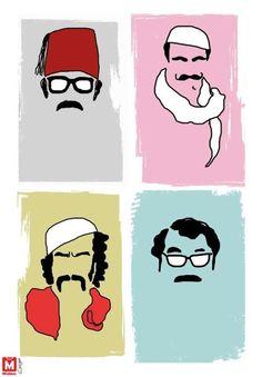Brilliant Syrian writer/actor/comedian Duraid Laham, our neighbor for awhile. Graphic Design Illustration, Illustration Art, Illustrations, Funny Arabic Quotes, Arabic Art, Arabian Nights, Calligraphy Art, Ramadan, Pop Art