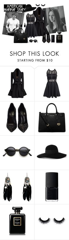 """""""American Horror Story Coven"""" by tess-302 ❤ liked on Polyvore featuring AX Paris, Casadei, MICHAEL Michael Kors, Eugenia Kim, NARS Cosmetics, Chanel, women's clothing, women's fashion, women and female"""
