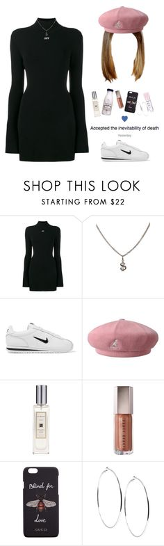 """💗💫"" by niya-gurl ❤ liked on Polyvore featuring Off-White, Yves Saint Laurent, NIKE, kangol, Jo Malone, Gucci, GUESS, StreetStyle, chic and ootd"