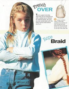 """American Girl Magazine - January 1993/February 1993 Issue - Page 31 (Part 3 of """"The Braiding Bunch"""")"""
